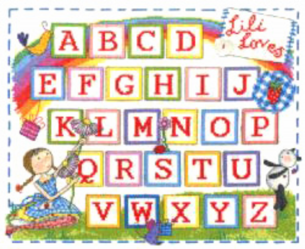 Lili Loves ABC Sampler Cross Stitch Kit